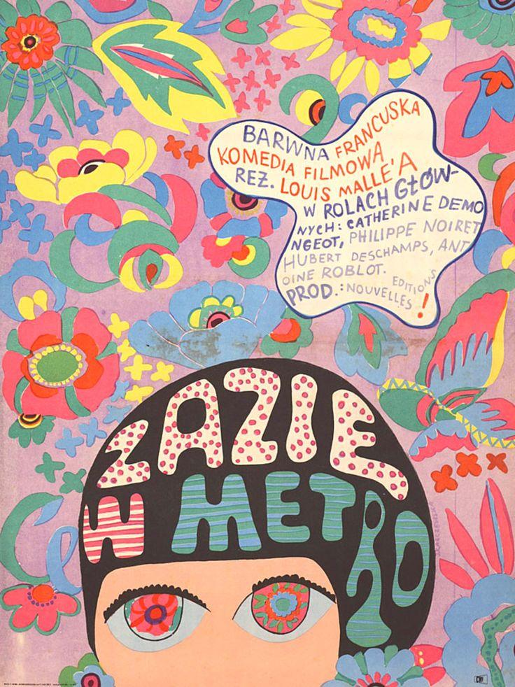 Zazie+dans+le+metro+1960+Polish+A1+Poster