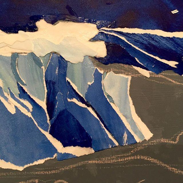The beginnings of the ocean collage. #ocean #collage #paperart #art #creative #hawaii #wave