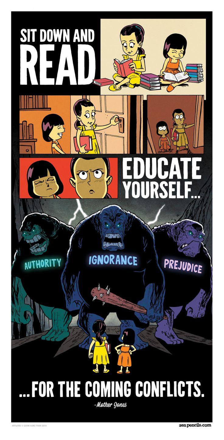 Sientate y lee... Educate... (Autoridad, Ignorancia, Prejuicio) Para los conflictos venideros.