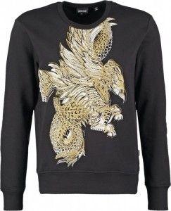 Mannen, deze Just Cavall zwarte sweater is nu in de uitverkoop! #heren #mannen #mode #trui #shirt #mensfashion #black #sweater #sale