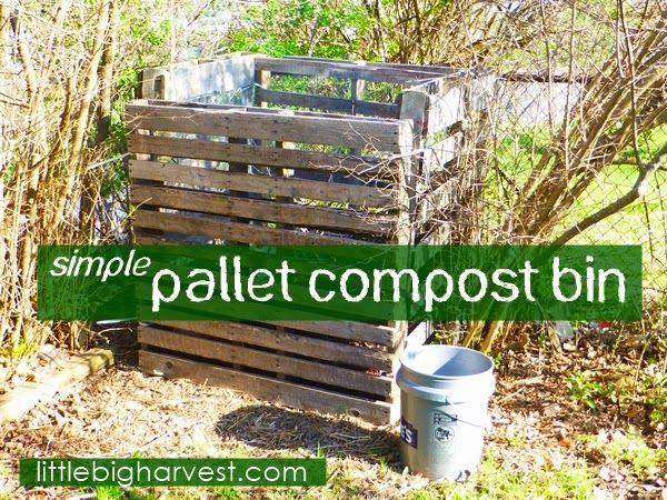 little*big*harvest: Simple Pallet Compost Bin