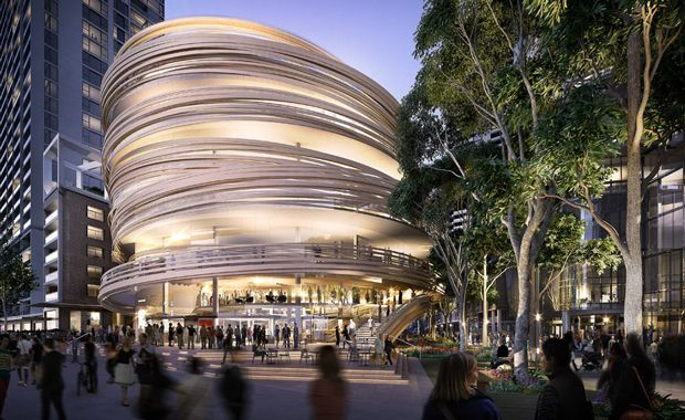 Kengo Kuma Unveils Sydney's Beehive-Like Darling Exchange - check out the marketing video.