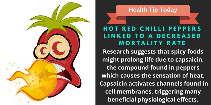 Hot Red Chilli Peppers Linked to a Decreased Mortality Rate