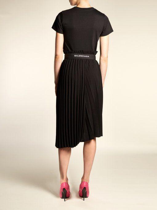 d2e0789eb Matches Fashion || Balenciaga Logo Embroidered Pleated Skirt | Dream ...