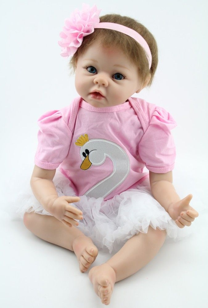 Realistic 22 inches reborn baby dolls for adoption finished handmade doll baby alive doll princess doll for girls