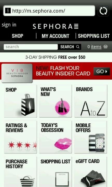 Sephora.com mobile