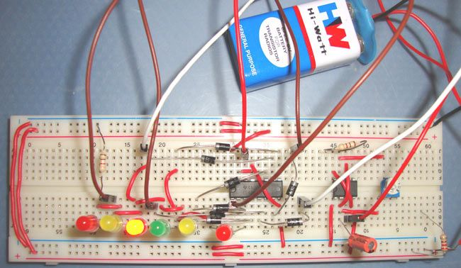 Clock With Led Pendulum With Tick Tock Sound Circuit Diagram