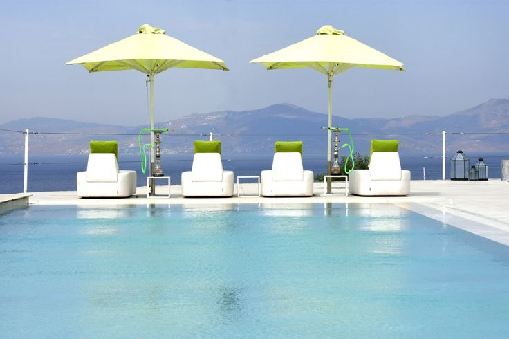 Amazing deck overlooking the magnificent Aegean sea! #Share #Summer #Pool #Vacations