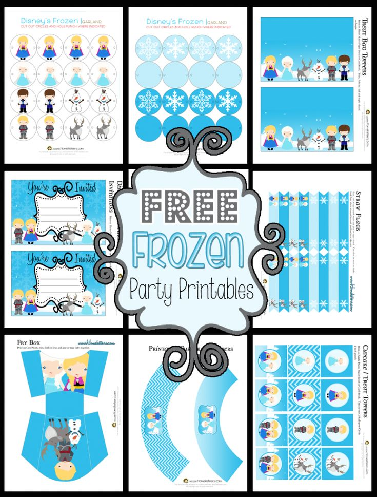 Frozen Themed Party Printable Set FREE from Homeketeers. - Provide your movie guests with some Frozen themed activity sheets before your movie party.  - Another event tip from Southern Outdoor Cinema of Atlanta.