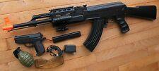AK47 Tactical Auto Elektrische Airsoft Pistole Mit Laser Taschenlampe Extra Pist…