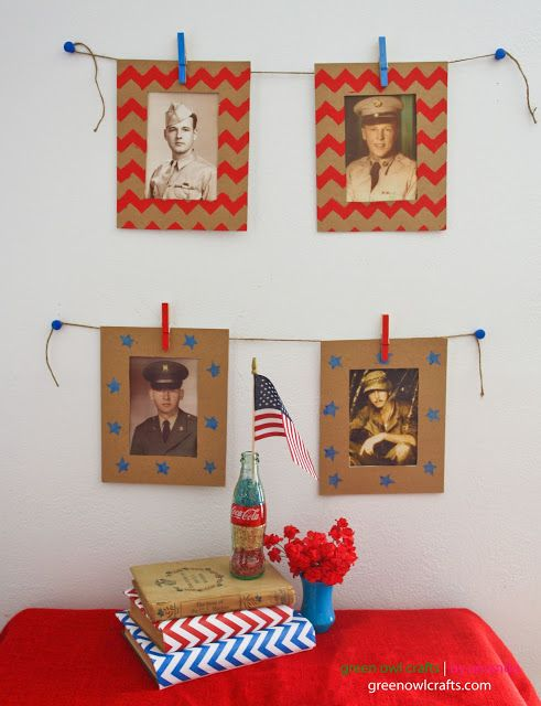 Stars, Stripes & Heroes Super easy and fun craft idea for kids to honor and learn about their American heroes #patriotic #fourthofjuly #america