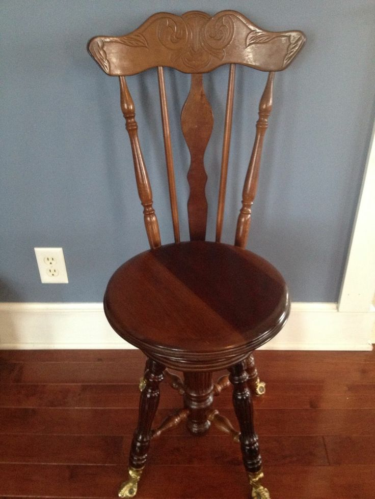Rare Vintage High Back Shell Pattern Mahogany Chair - 144 Best Piano Stools Images On Pinterest Piano Stool, Antique