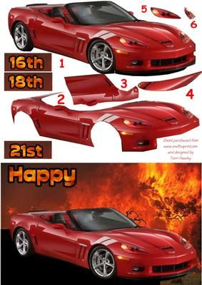 A birthday card for male for 21st, 18th, or 16th.  Easy to make, just cut out the parts, and assemble.