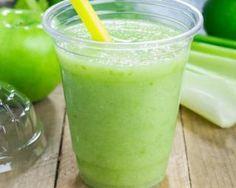 Jus de pommes au céleri et au citron vert à calories négatives