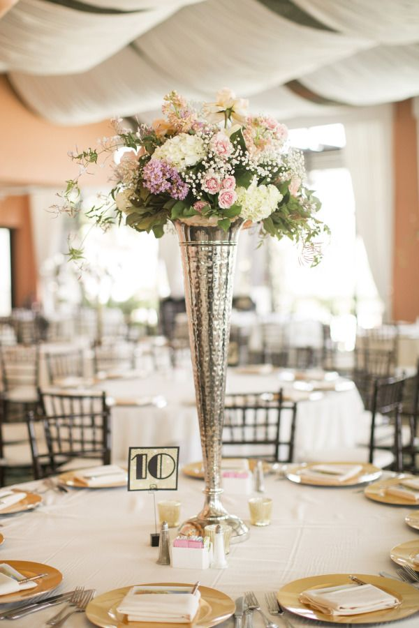 Gatsby Wedding Centerpieces | Great Gatsby Inspired Galveston Wedding from Mustard Seed Photography