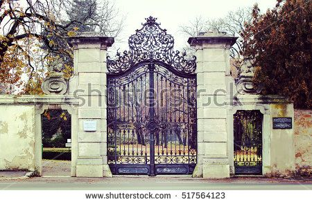 Old gates to an Austrian park