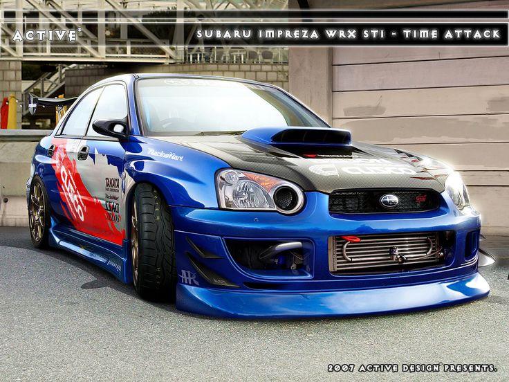 Subaru Impreza STI Time Attack by Active-Design.deviantart.com