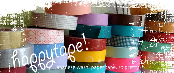 happy tape — japanese masking tape. tape galore! the best and cheapest WASHI TAPE!