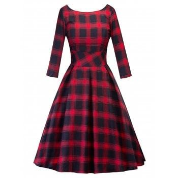 SHARE & Get it FREE | Retro Cut Out Plaid Fit and Flare DressFor Fashion Lovers only:80,000+ Items·FREE SHIPPING Join Dresslily: Get YOUR $50 NOW!