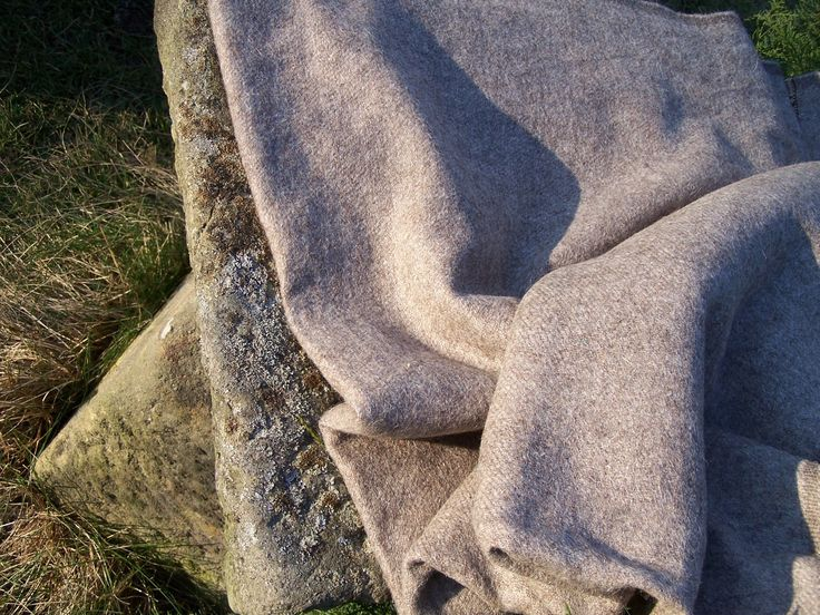 Handwoven sheep wool cloth,