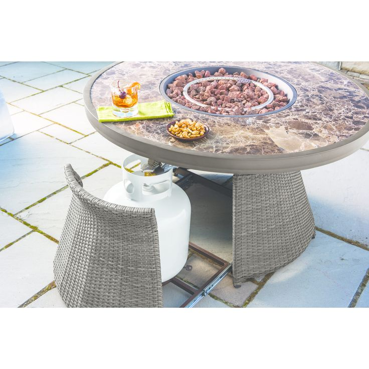 Berkley Jensen Antigua 5 Piece Wicker Fire Pit Chat Set | Outdoor Furniture  | Pinterest | Fire Pits, Antigua And Products