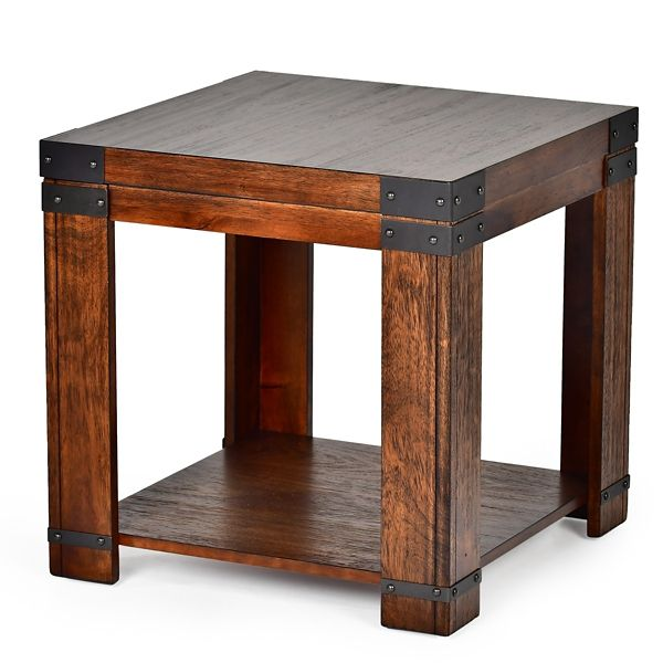 Nolan Cherry Square Accent Table Kirklands Corner Living Room Tables