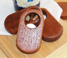 Handmade Wooden Bottle Opener Hand held by handmadebyMarcyNTom