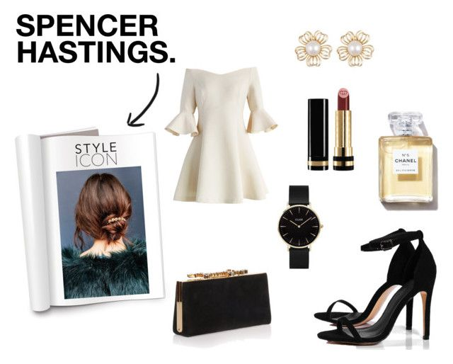 """""""Spencer Hastings"""" by carlacorucho on Polyvore featuring Chicwish, Boohoo, Gucci, Jimmy Choo, CLUSE, Urban Outfitters, PrettyLittleLiars, pll, spencerhastings and polyvoreeditorial"""