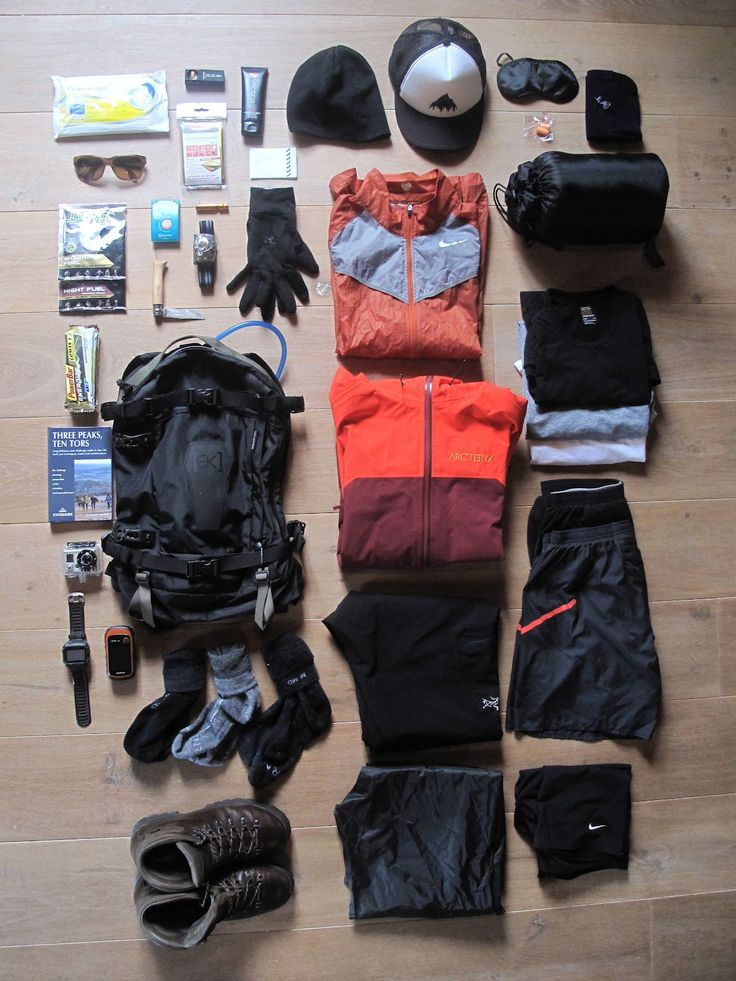 SUBMISSION: Kit laid out for the UK National 3 Peaks Challenge
