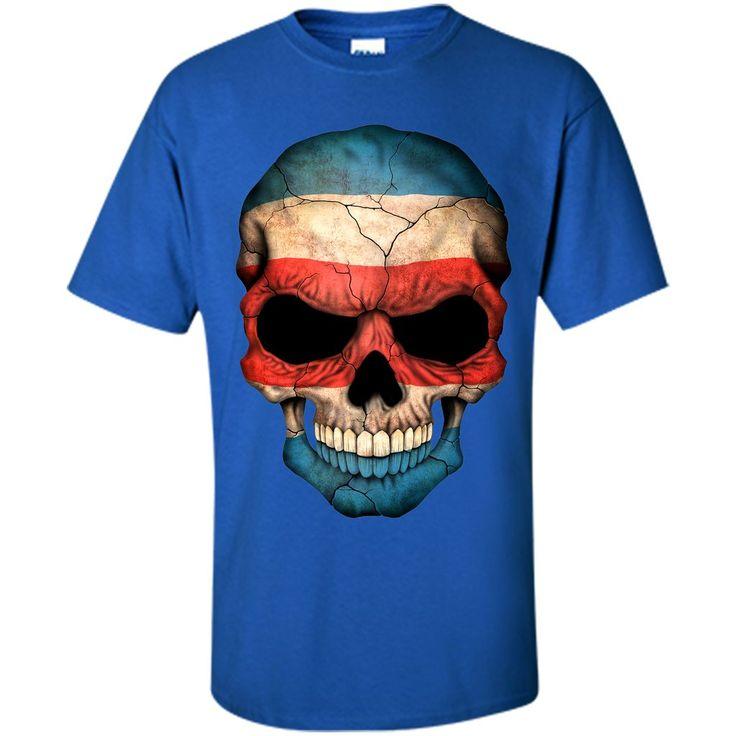 Costa Rican Flag Skull Costa Rica T-Shirt