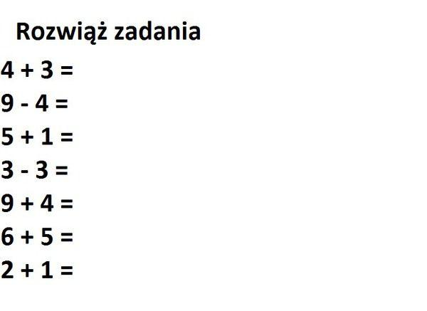 Matematyczne zadania
