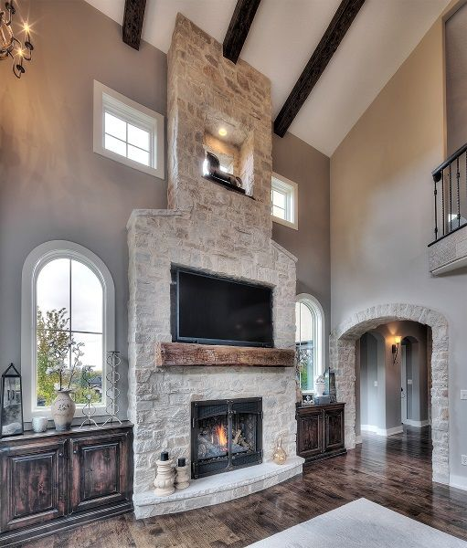 Stone Fire Place Ideas: Seven Stone Veneer Fireplace Ideas That Will Warm Up Your