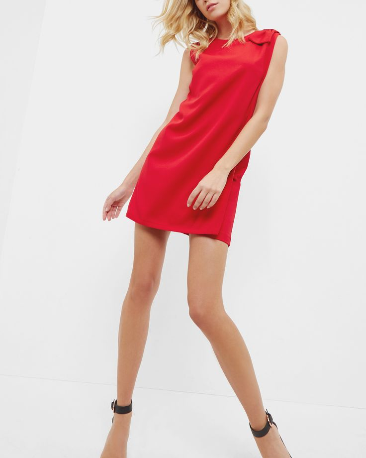 Double layered tunic dress - Bright Red   Dresses   Ted Baker