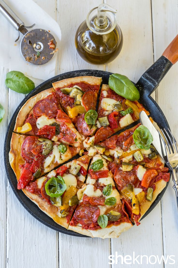 How to make a quick and easy skillet pizza, no oven required