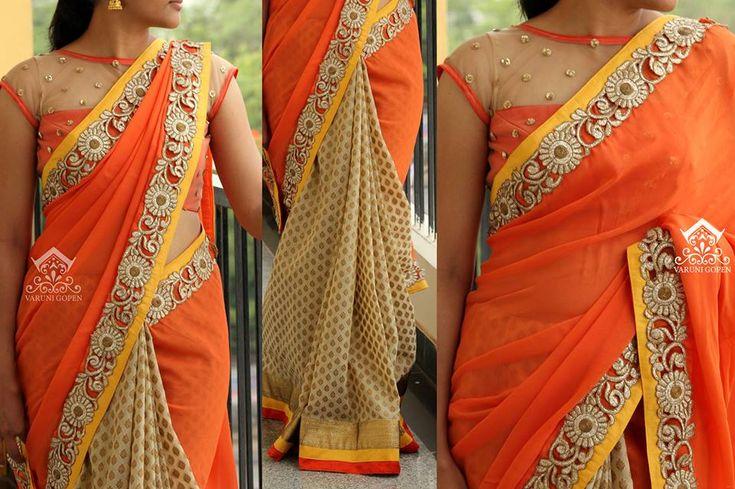 half and half saree 5