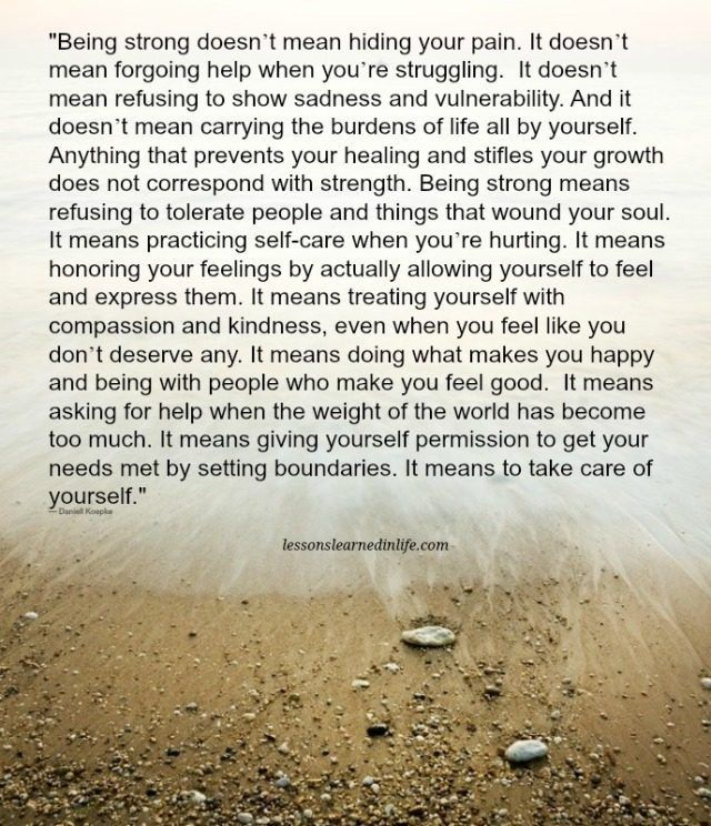 Lessons Learned in Life | Being strong.