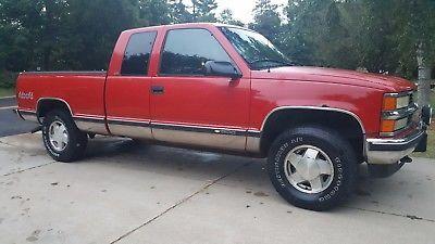 1996 Chevrolet Silverado 1500  1996 Chevrolet Chevy Silverado K1500 4x4 Red