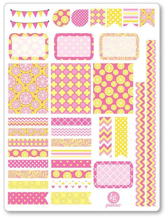 Limonata rosa decorazione Kit / settimanale diffusione Planner adesivi per Erin…