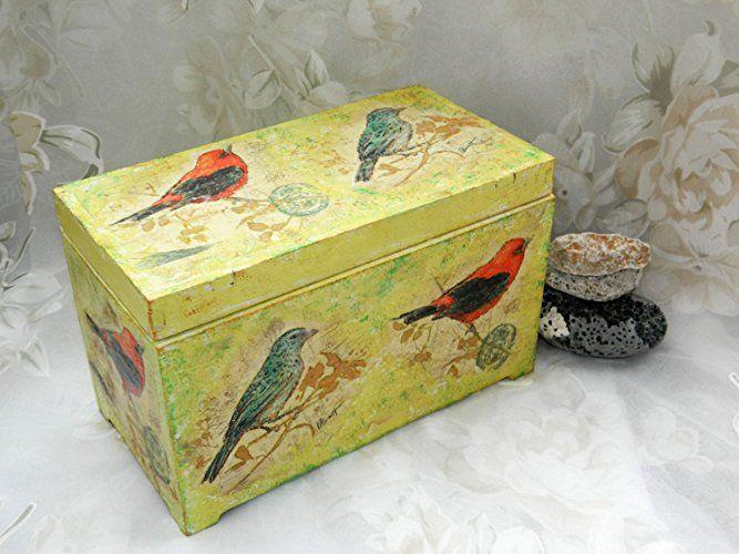Vogel kasten Holz kasten Rustikales Dekor Hochzeits kasten Braut geschenk Kinder zimmer dekoration Kinder kasten Baby kasten Rustikale Box Hochzeits hölzern dekor schmuck halter Bauernhaus dekor Weihnachts geschenk ideen