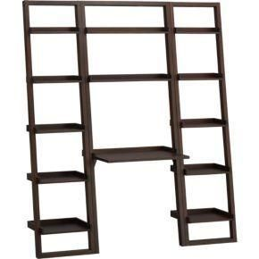 Create an entire wall of storage, workspace and display with our popular leaning storage system. Ladder-style design secures against the wall for maximum stability. Sturdy open desk has two... More Details