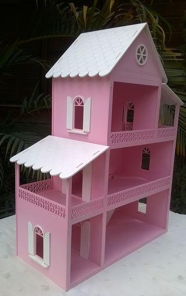 Casinha de boneca Poly pintada