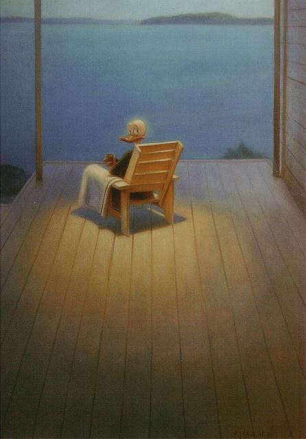 this painting: Aku Ankka by Kaj Stenvall