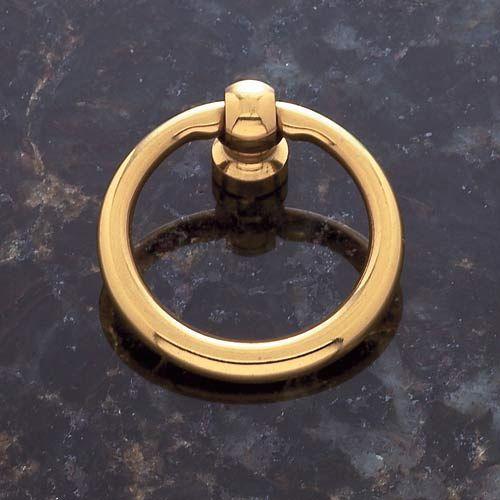 Solid Brass 1 1/2 Inch Diameter Ring Pull Jvj Hardware Knob Round Cabinet Hardware & Knobs