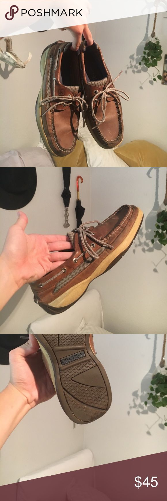Men's Sperry Top-Siders These sperry's are my personal favorite and are hard to let go, in GREAT condition, worn only a handful of times, color is a darker brown leather. Sperry Top-Sider Shoes Loafers & Slip-Ons