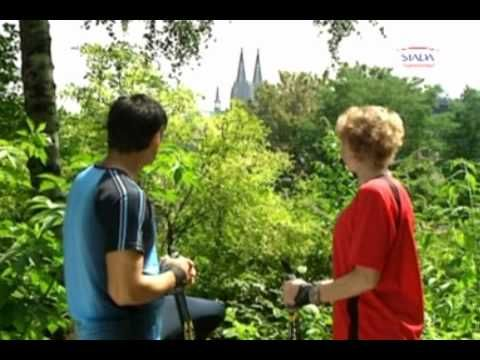 """Nordic Walking Très bonnes explications visuelles, même si la vidéo est en allemand!  Très très proches de la marche nordique """"alpha""""!"""