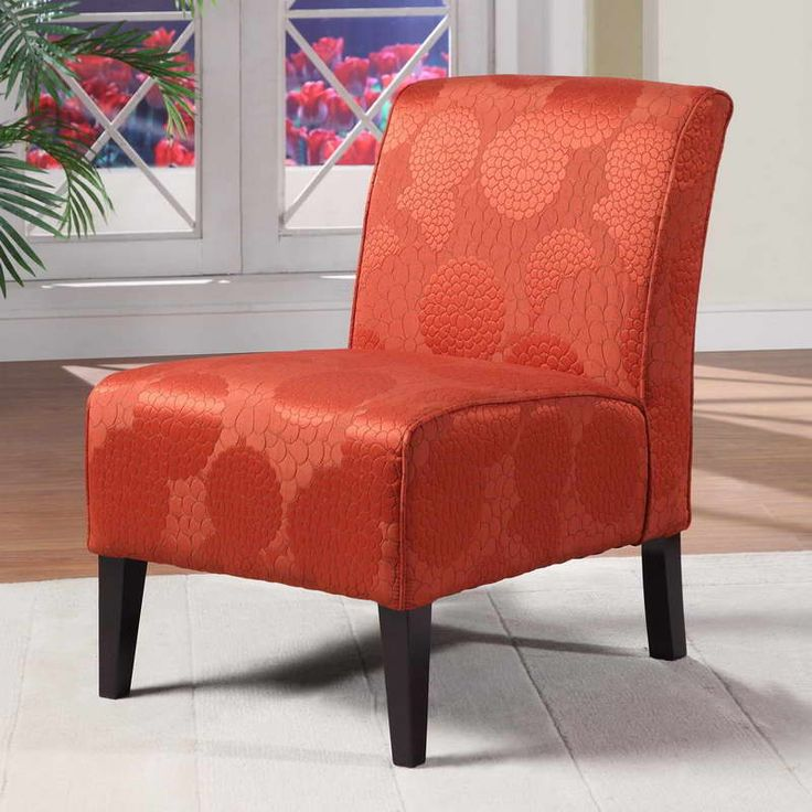 Lily Slipper Chair Matelesse Burnt Orange OrangeVintage Meets Modern In This Superbly Comfortable Upholstered