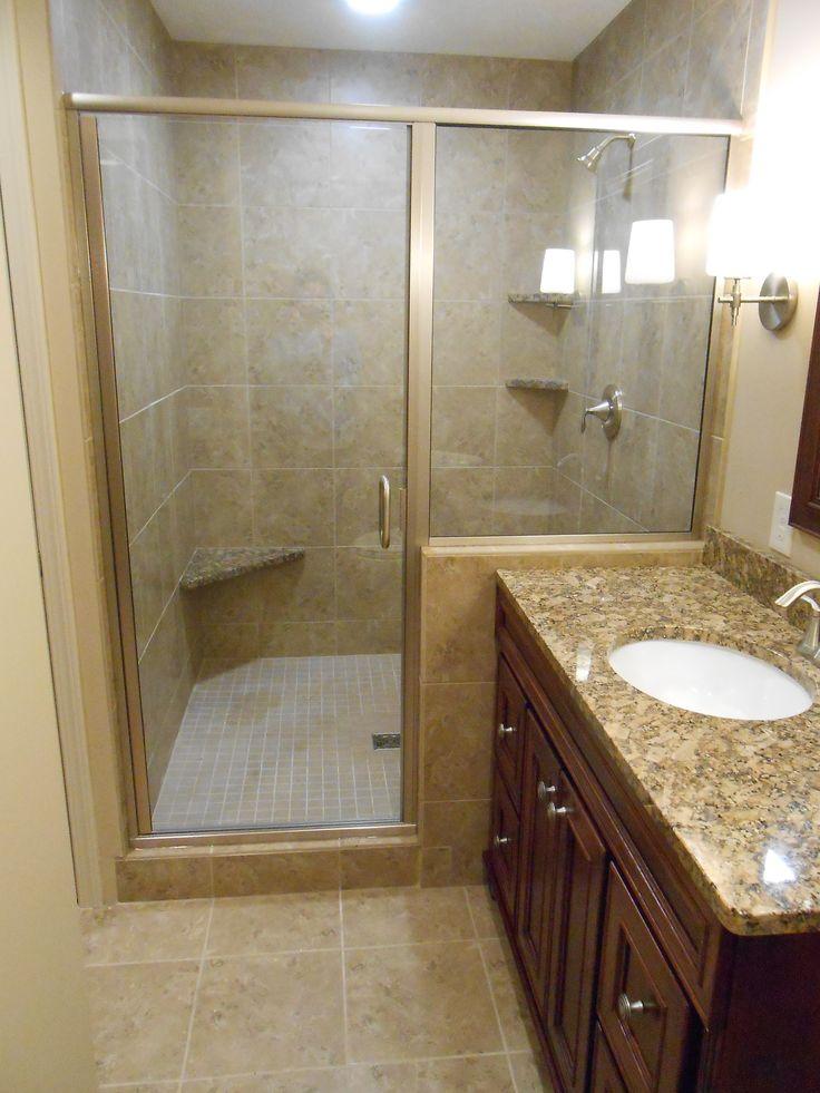 Basement Bathroom Remodel Emser Cordova Noce 13x13 Ceramic Tile On The Shower Walls And Floor