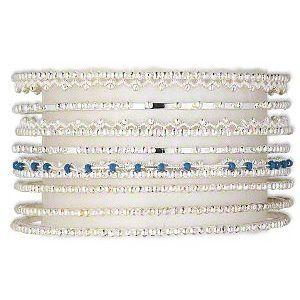 Bangle Bracelet Set of 7 Silver Plate Varying Designs AzureBella Jewelry. $14.36. Jewelry gift box included. Set of 7 bracelets. Fine silver plate