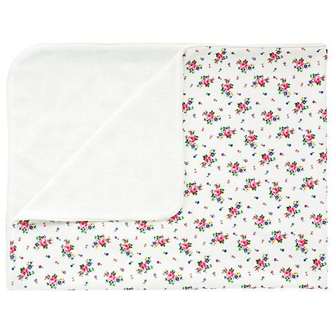 Buy Cath Kidston Hankie Rose Pram Blanket, White Online at johnlewis.com