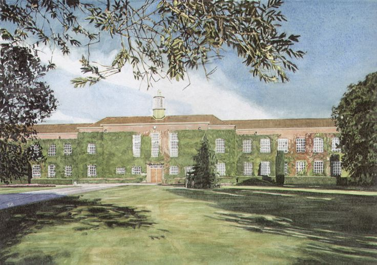 Writtle College. Watercolour.